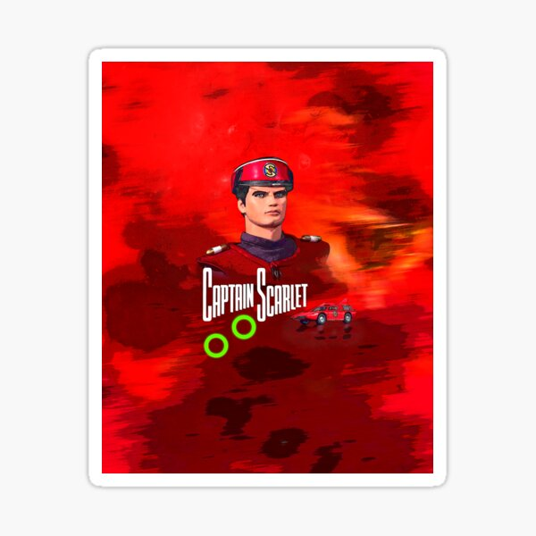 Captain Scarlet drawing 1 Sticker