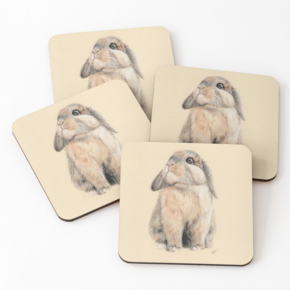 Cute Little Peter Rabbit Coasters (Set of 4)