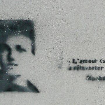 L'amour est à réinventer Arthur Rimbaud Stencil Art by Nodus