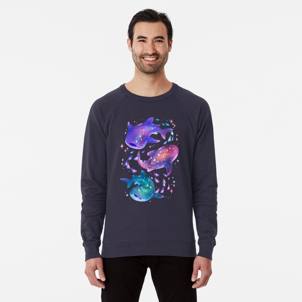 Cosmic Whale Shark Lightweight Sweatshirt
