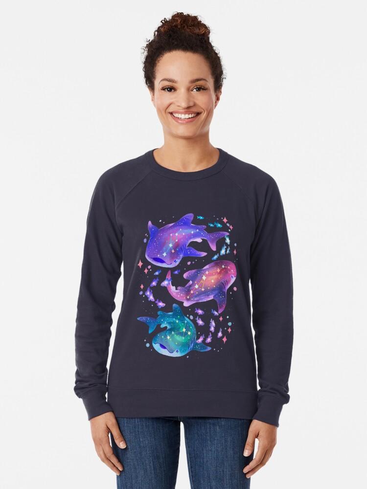 Alternate view of Cosmic Whale Shark Lightweight Sweatshirt
