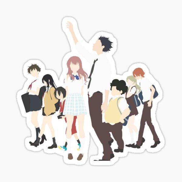 Koe no Katachi Minimalist Design Sticker
