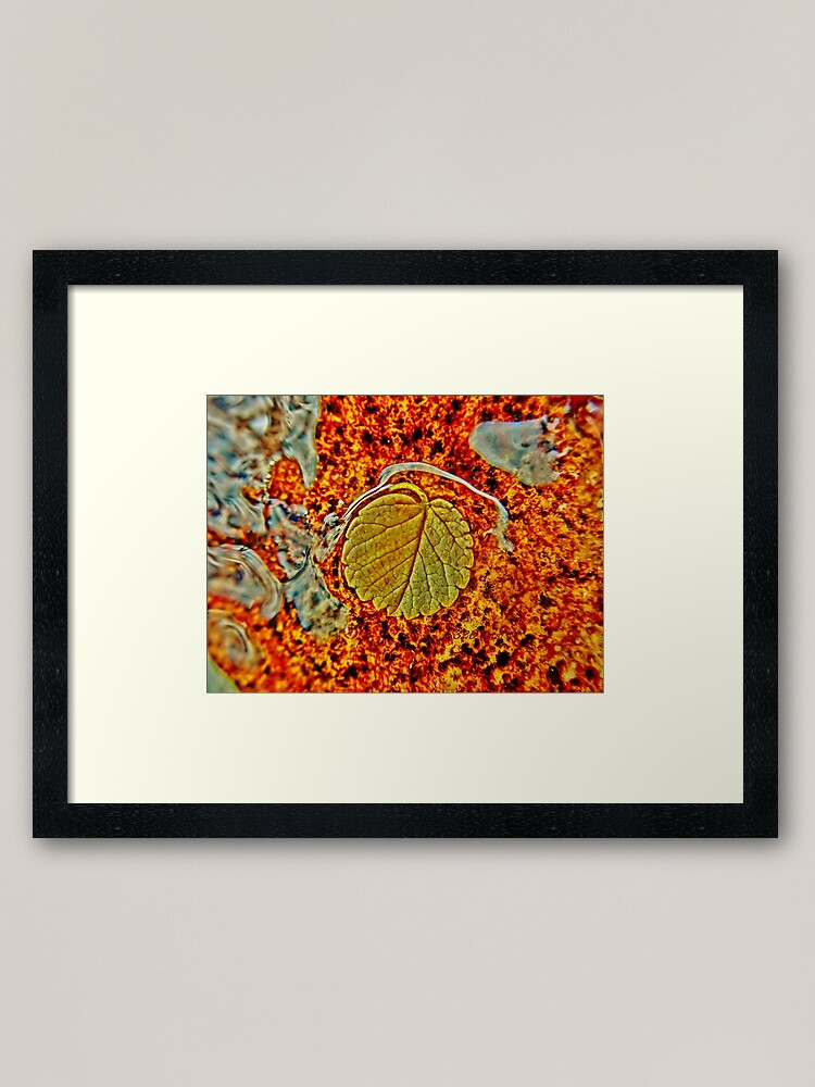 Alternate view of Floating Leaf Framed Art Print