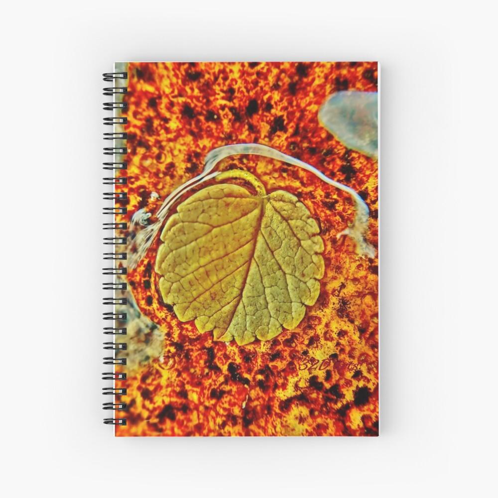 Floating Leaf Spiral Notebook