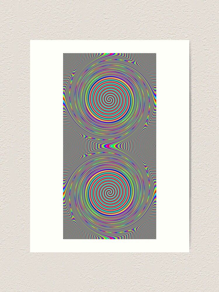 Alternate view of #Games of #multicolored #spirals on the #plane Art Print