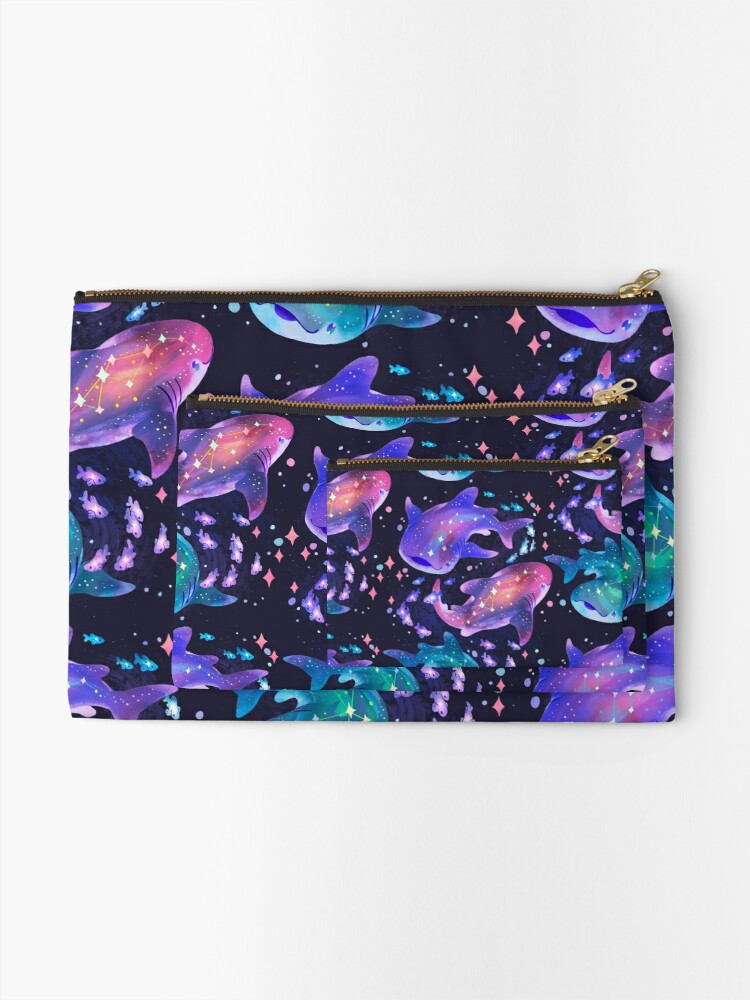 Alternate view of Cosmic Whale Shark Zipper Pouch