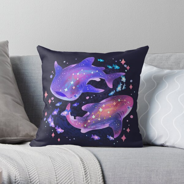 Cosmic Whale Shark Throw Pillow