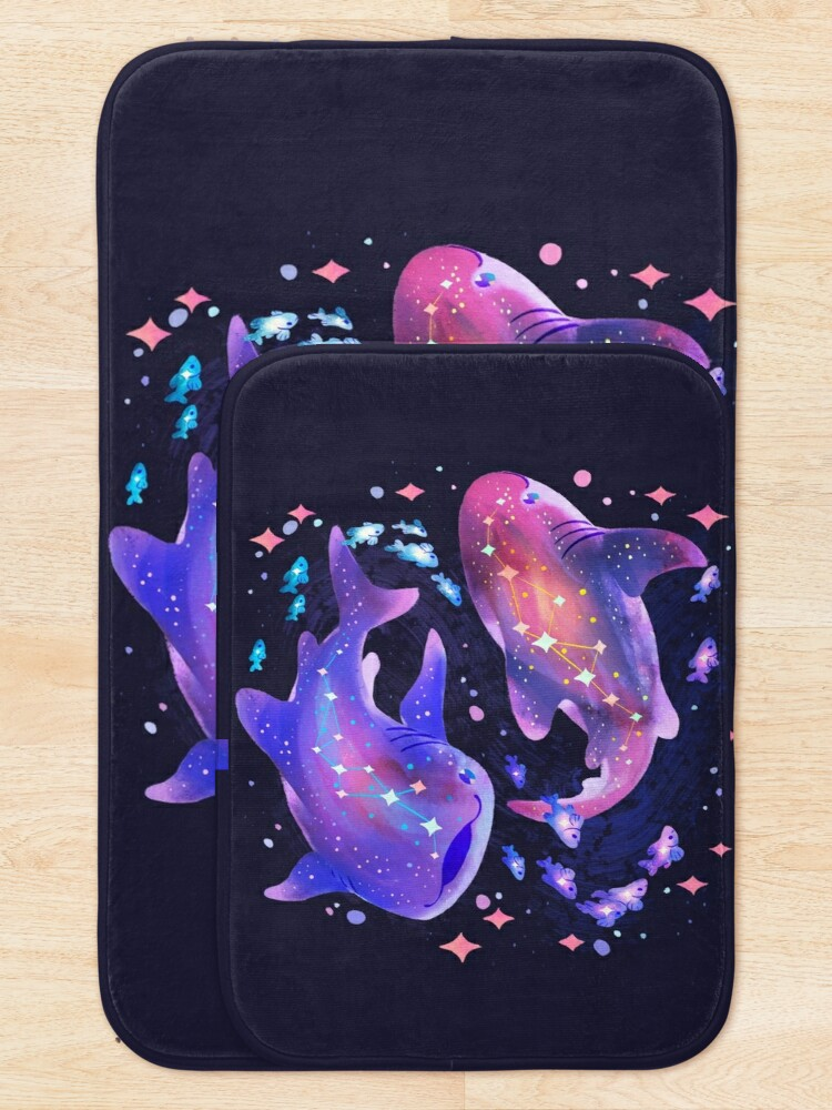Alternate view of Cosmic Whale Shark Bath Mat