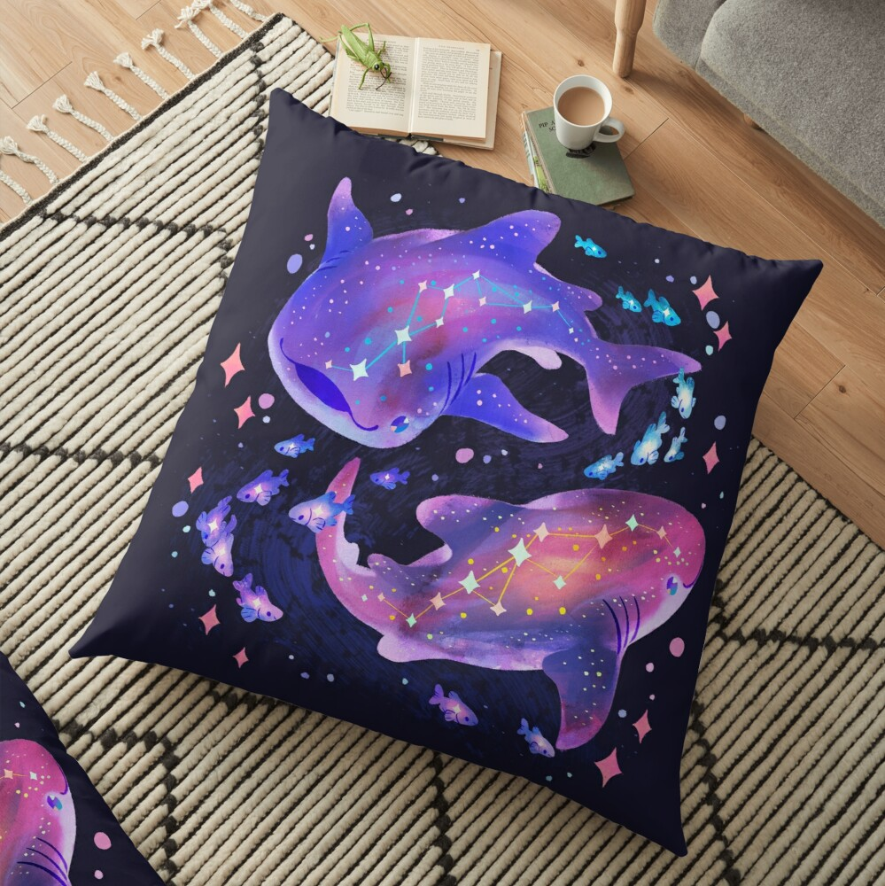 Cosmic Whale Shark Floor Pillow