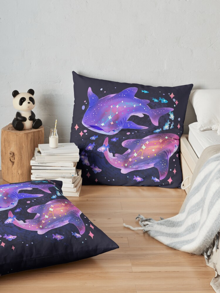 Alternate view of Cosmic Whale Shark Floor Pillow