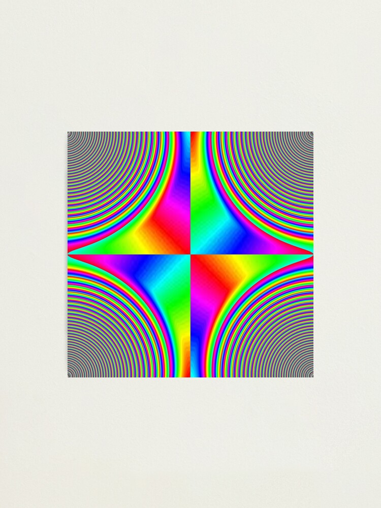 Alternate view of #Creativity, #rainbow, #bright, #prism, design, abstract, psychedelic, color image, multi colored Photographic Print