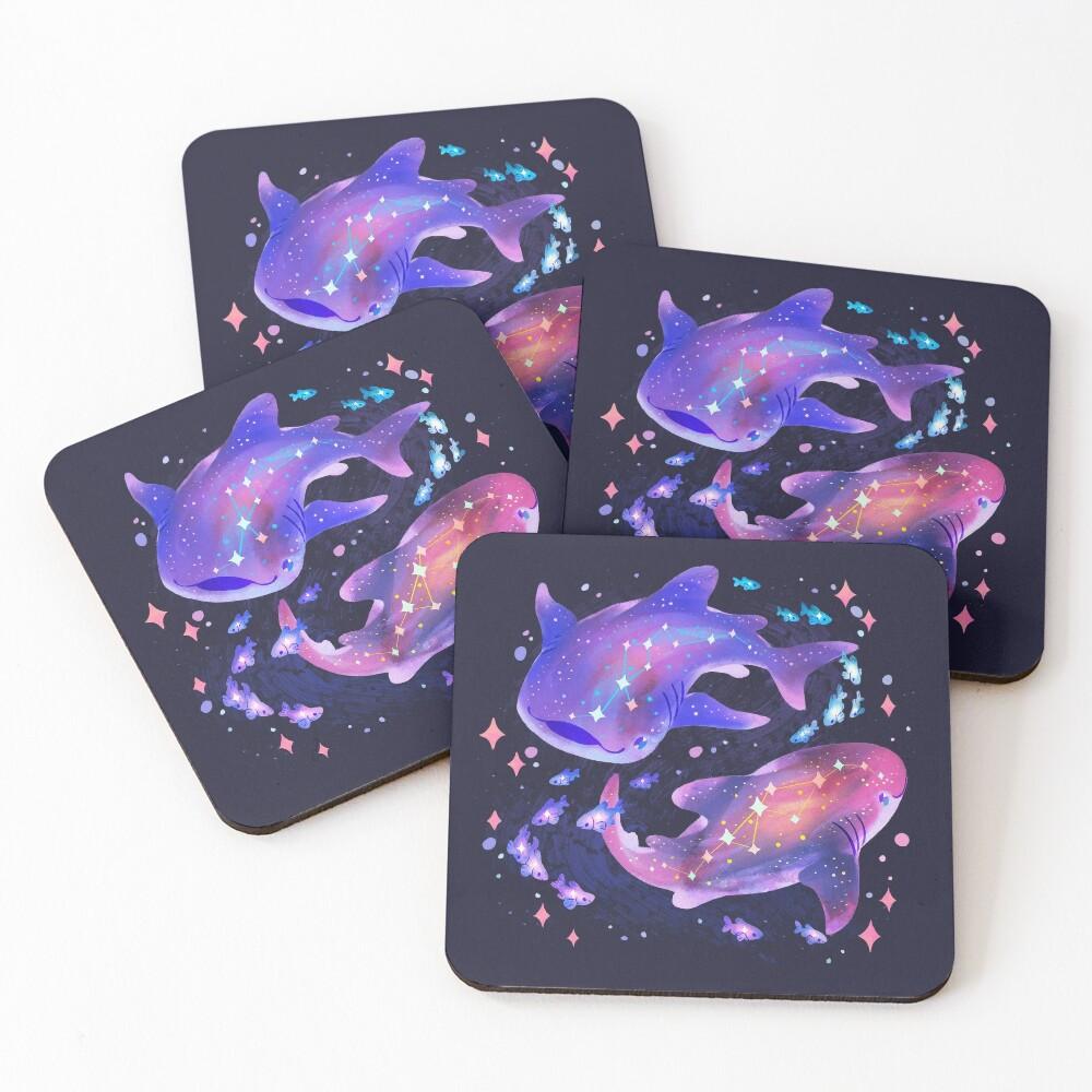 Cosmic Whale Shark Coasters (Set of 4)