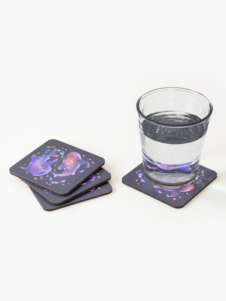 Alternate view of Cosmic Whale Shark Coasters (Set of 4)