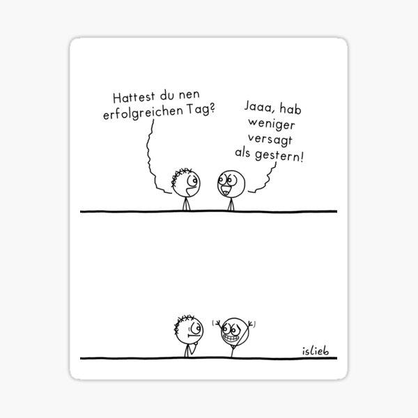 Erfolgreicher Tag islieb Comic Sticker