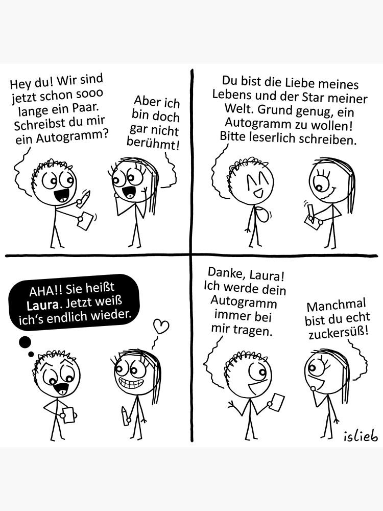 Autogramm islieb Comic von islieb