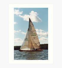 8-Metre Sailboat Art Print