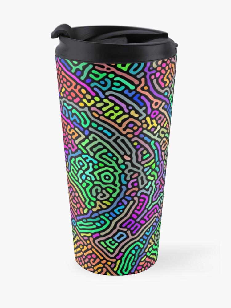 Alternate view of Freaky Stencil Travel Mug