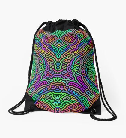 Freaky Stencil Drawstring Bag