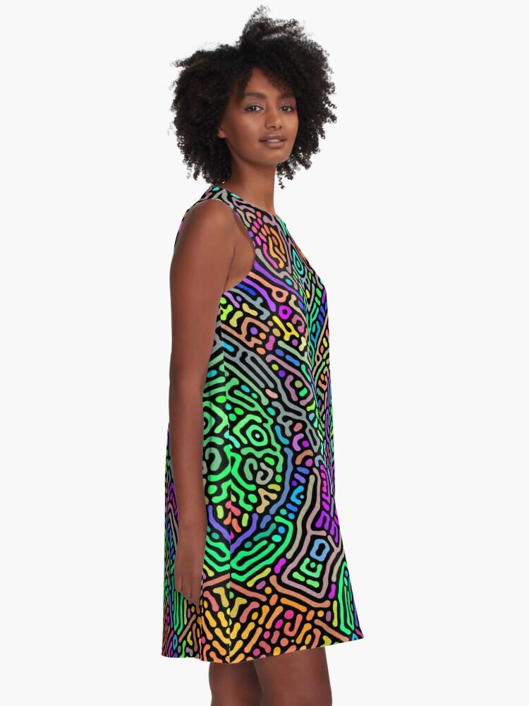 Alternate view of Freaky Stencil A-Line Dress