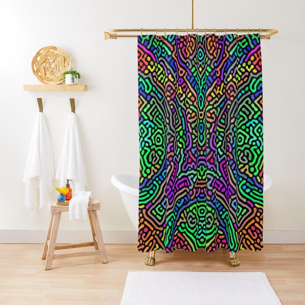 Freaky Stencil Shower Curtain