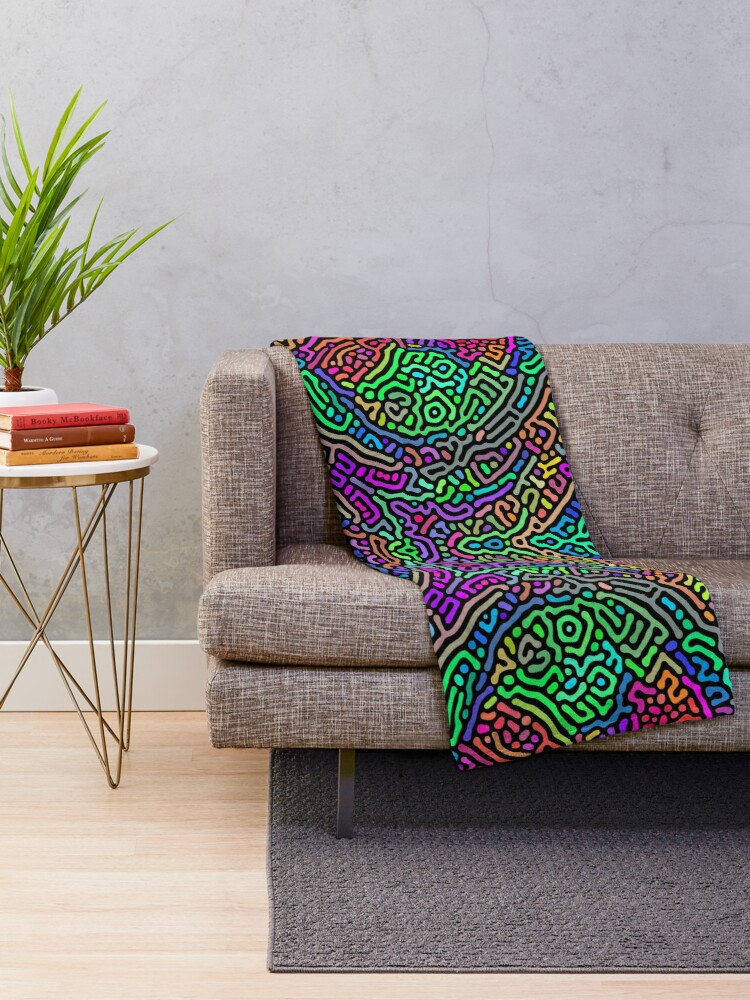 Alternate view of Freaky Stencil Throw Blanket
