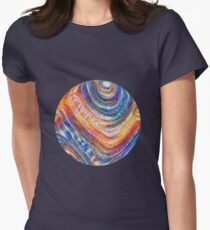 #Deepdreamed planet Fitted T-Shirt