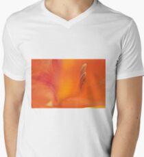Orange Gladiolus, As Is Men's V-Neck T-Shirt