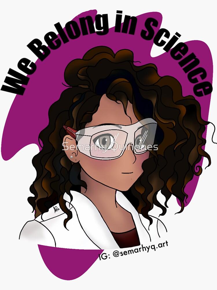 Curly Hair Scientist by semarhy