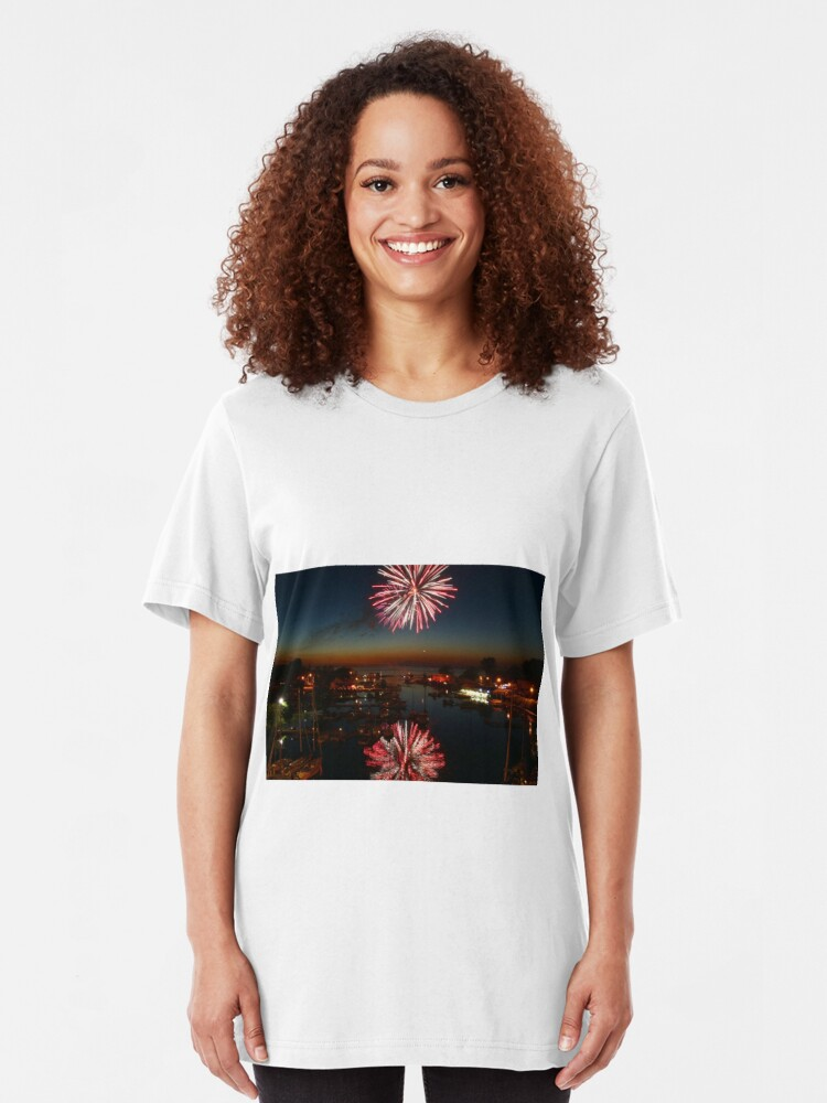 Alternate view of Third of July in Olcott, New York Slim Fit T-Shirt