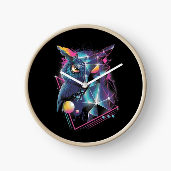 Rad Owl Clock