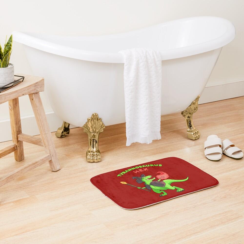 T Hex - Red Bath Mat