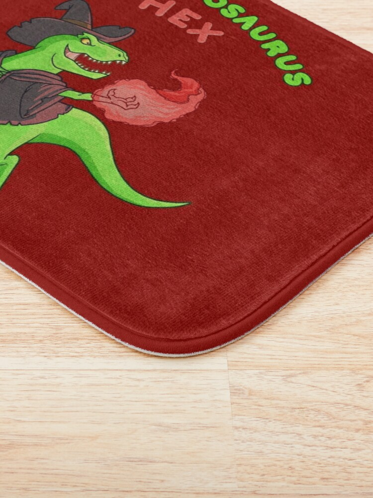 Alternate view of T Hex - Red Bath Mat