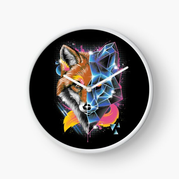 Rad Fox Clock