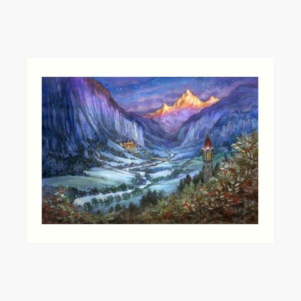 The Hidden Valley in Winter Art Print