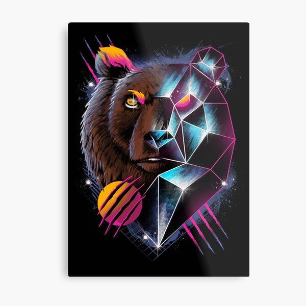 Rad Bear Metal Print