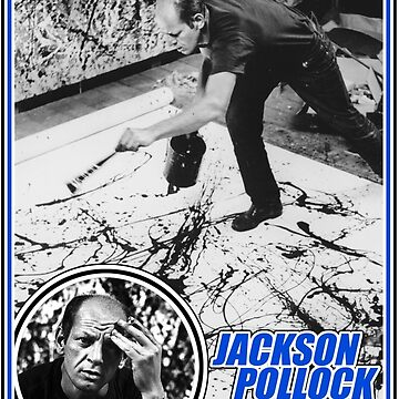 Jackson Pollock Trading Card by rewireddesign