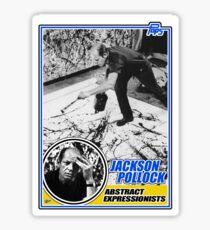 Jackson Pollock Trading Card Sticker