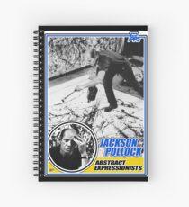 Jackson Pollock Trading Card Spiral Notebook