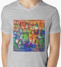 #Deepdreamed abstraction V-Neck T-Shirt