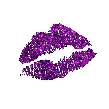 Lila Glitter Lippen von cpinteractive