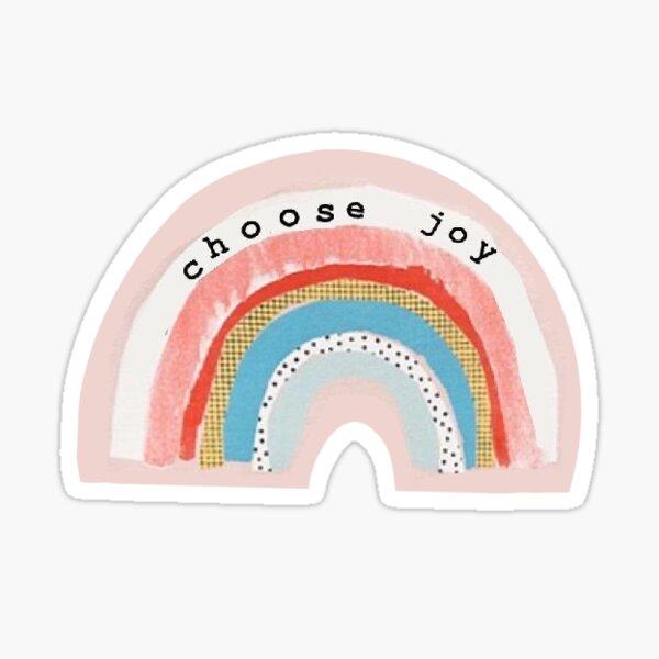 Wählen Sie Freude glücklich Positivität vsco niedlich Sprichwort ästhetisches Zitat Sticker