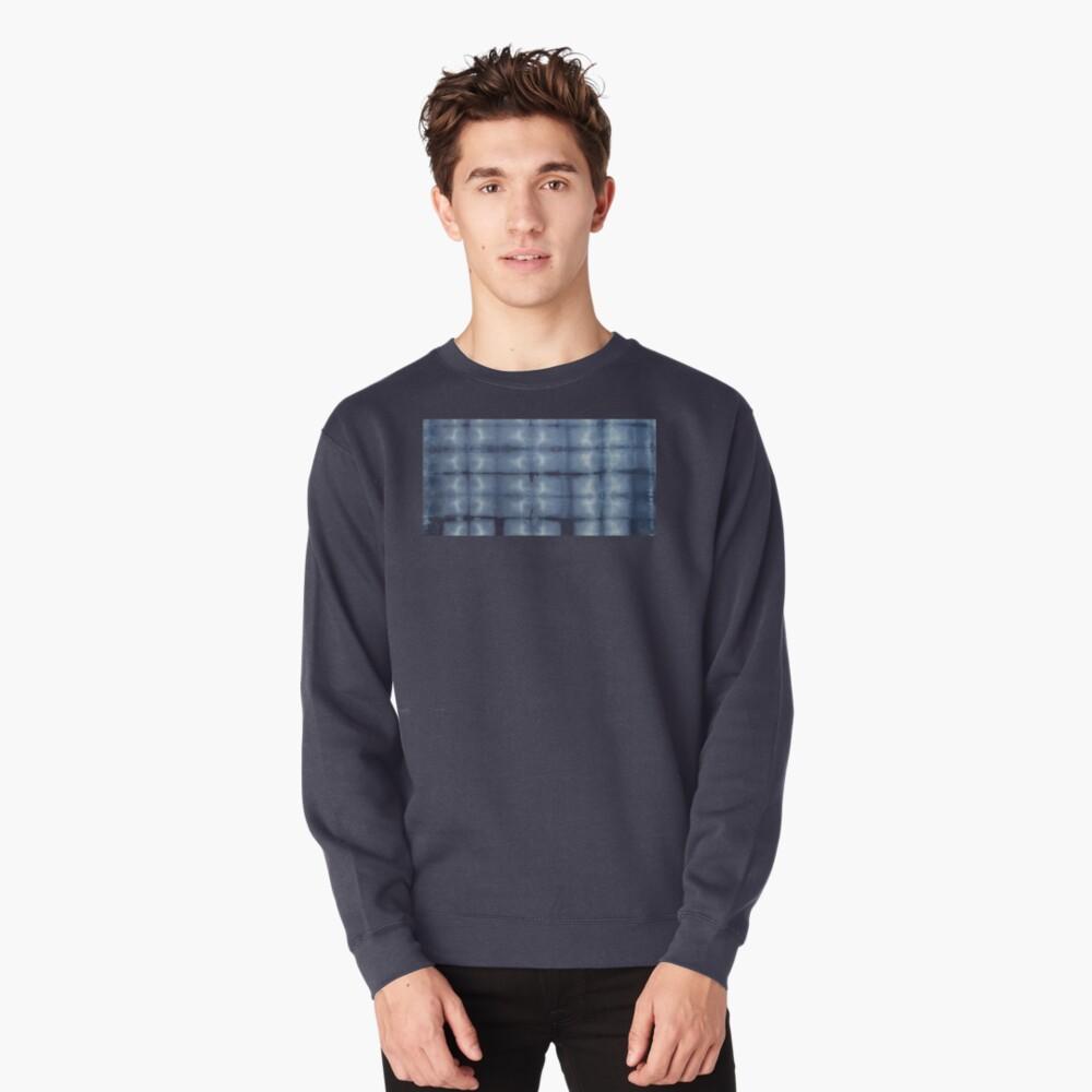 SKU546 Shibori Style - Blue Denim 2 Pullover Sweatshirt