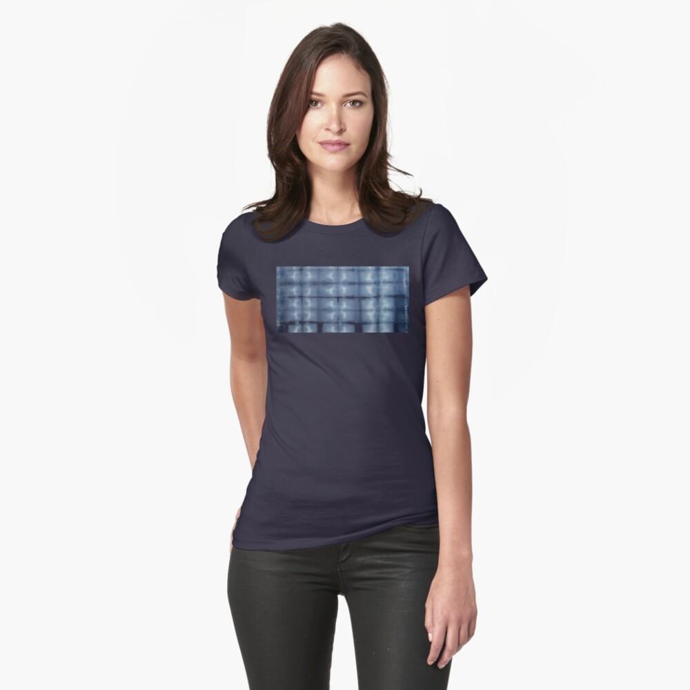 SKU546 Shibori Style - Blue Denim 2 Fitted T-Shirt