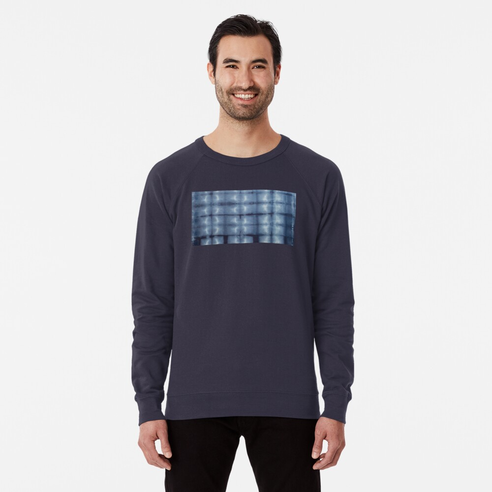 SKU546 Shibori Style - Blue Denim 2 Lightweight Sweatshirt