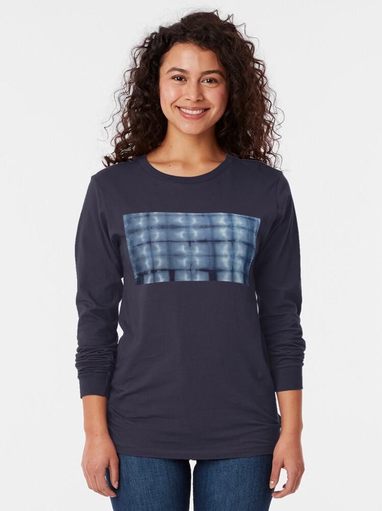 Alternate view of SKU546 Shibori Style - Blue Denim 2 Long Sleeve T-Shirt