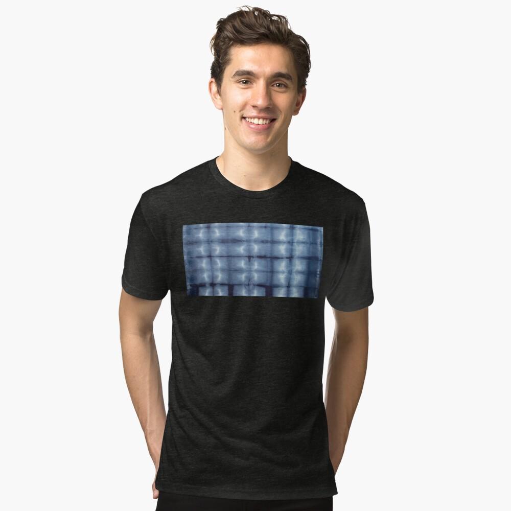 SKU546 Shibori Style - Blue Denim 2 Tri-blend T-Shirt