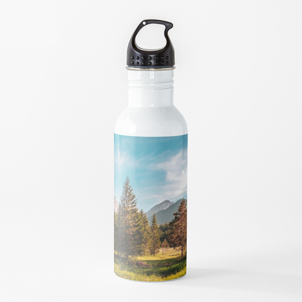 Summer has arrived in the italian alps Water Bottle