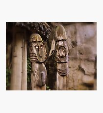 Hand made wooden man Photographic Print
