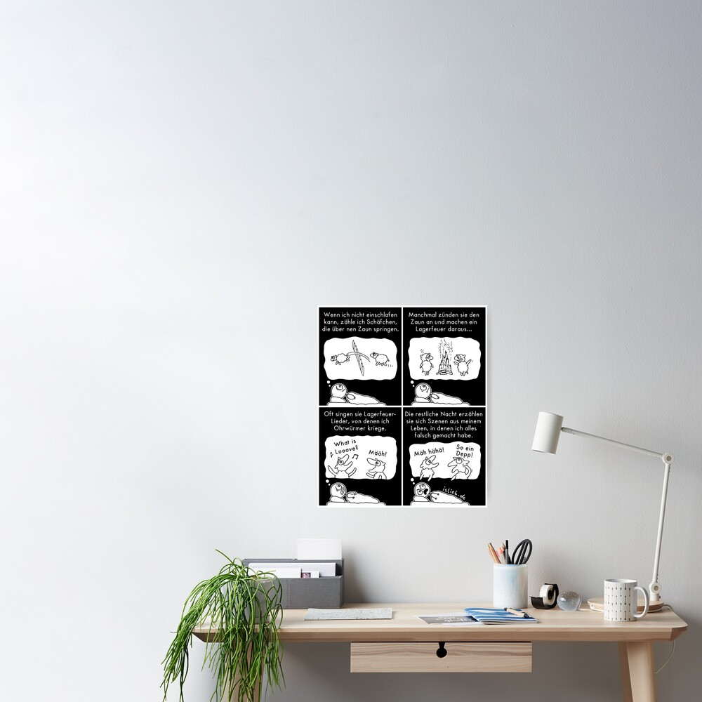 Schaefchen zaehlen islieb comic Poster