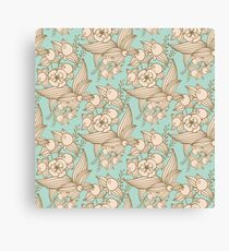 Vector other flowers seamless decorative pattern Canvas Print